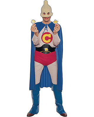 Captain Condom Halloween Costume (Morris Costumes Men's Long Sleeve Captain Condom Costume One Size.)