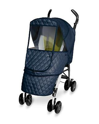 Manito Castle Alpha Baby Stroller Weather Shield Cover, Navy