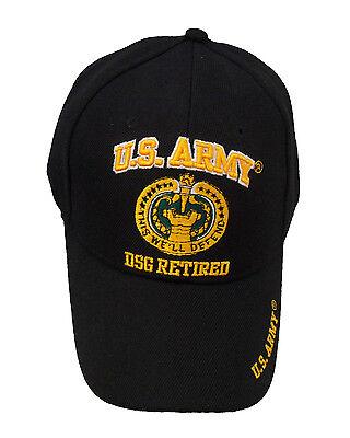 - Licensed US Army Drill Sergeant DSG Retired Cap 508-BLK
