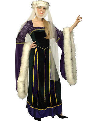 Period Halloween Costumes (Morris Costumes Women's Wonderful Period Medieval Fur Trim Costume.)