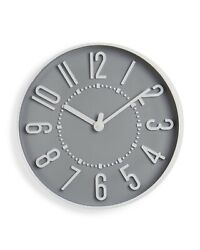 Westclox 10 Round Beautiful Silver / Grey and White Wall Clock 33215D