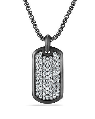 Men's Bling Iced Out Hip Hop Dog Tag Pendant Ball Chain Necklace Set MMP 807 S Ball Chain Iced Dog Tag