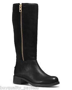 coach black suede boots ebay