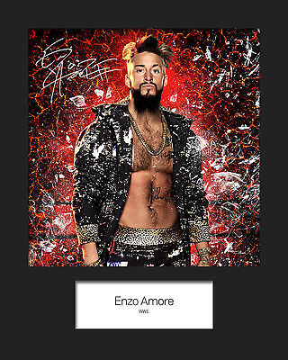 ENZO AMORE #1 (WWE) Signed (Reprint) 10x8 Mounted Photo Print - FREE DELIVERY
