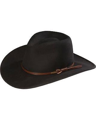 Stetson Bozeman Wool Felt Crushable Cowboy Hat - TWBOZE-813007 Black