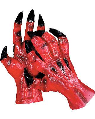 Morris Costumes Accessories & Makeup Hands & Feet Devil Hands. DU963](Mens Devil Makeup)
