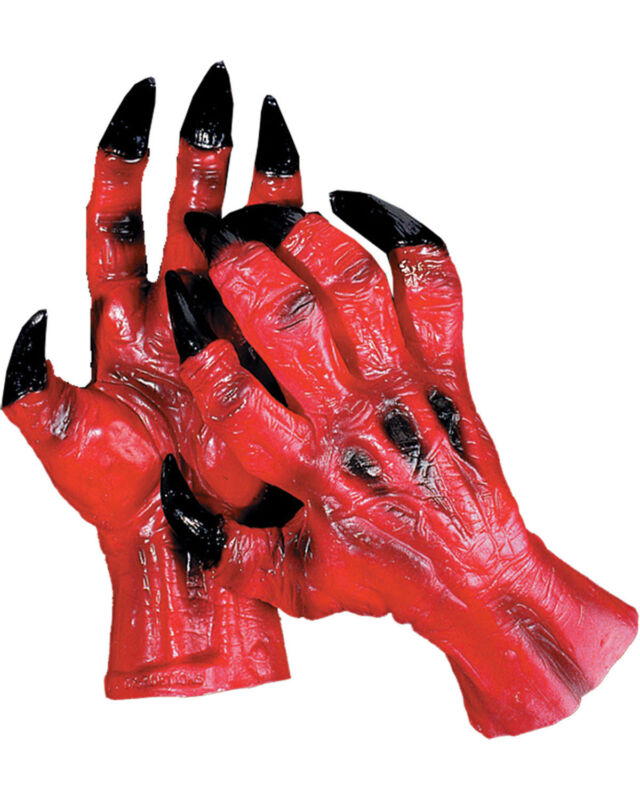 Morris Costumes Accessories & Makeup Hands & Feet Devil Hands. DU963