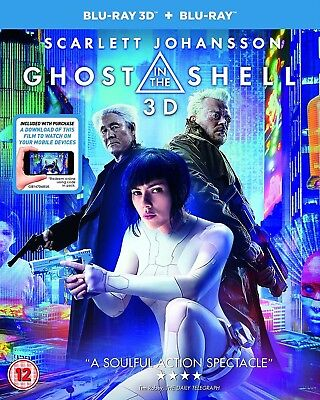Ghost In The Shell  2017  3D   2D Blu Ray Brand New Free Shipping
