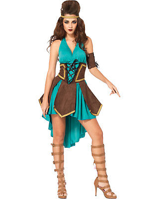 Morris Costumes Women's Celtic Warrior Adult Costume Green Brown M/L. - Celtic Warrior Costume