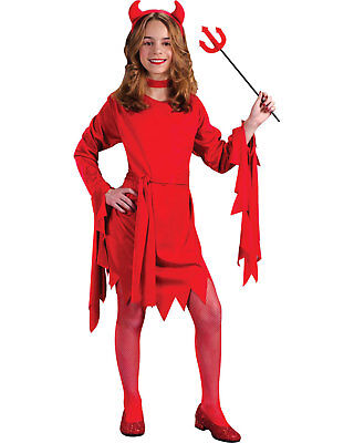 Morris Costumes Girls Classic Halloween Devils Childrens Costume 8-10. FW9714MD - Classic Halloween Costumes For Girls