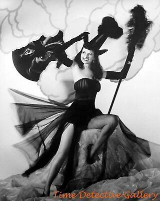 Halloween Pin Up (Vintage Halloween Pin-up Girl Dusty Anderson - Vintage Photo)