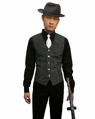 Men's Gangster Shirt, Vest and Tie Costume Set Size Medium](Gangster Costume Men)