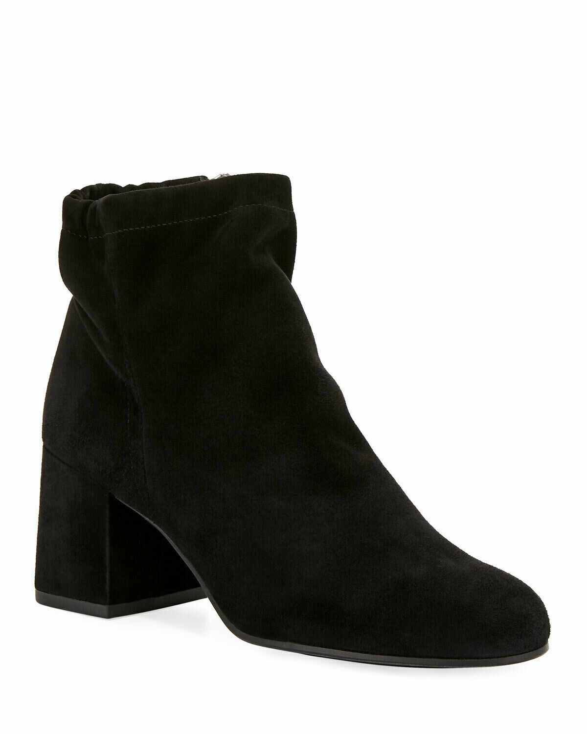 NIB Eileen Fisher Women's Hollis Black Suede Block Heel Ankle Zip Booties $265 9