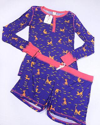 MUNKI MUNKI Two Piece PAJAMA Set Womens Size XL (LS Top) Bottom Shorts NWT