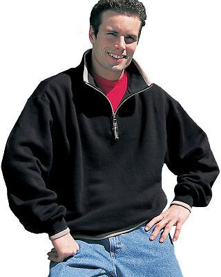 Tri-Mountain Men's Contrasting Edges 1/4 Zip Fleece Pullover Sweatshirt. -