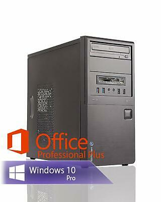 PC System Intel Core i5 4x 3.20GHz 8GB RAM 480GB SSD DVD-RW Win10Pro Office 2016