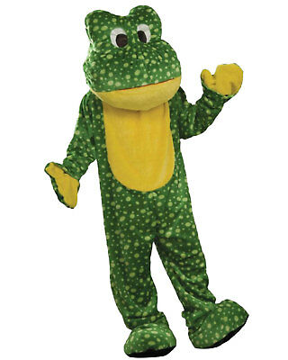 Morris Costumes Adult Unisex Animals Deluxe Plush Frog Mascot One Size. FM62607