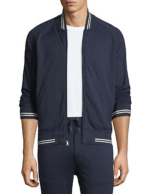 Slim Zip Fleece ($595 Ralph Lauren Purple Label Slim Zip Lux Fleece Varsity Stripe Track Jacket)