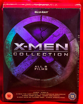 X-Men Collection (Blu-ray Disc, 2016, 8-Disc Set) Region B/2 NEW