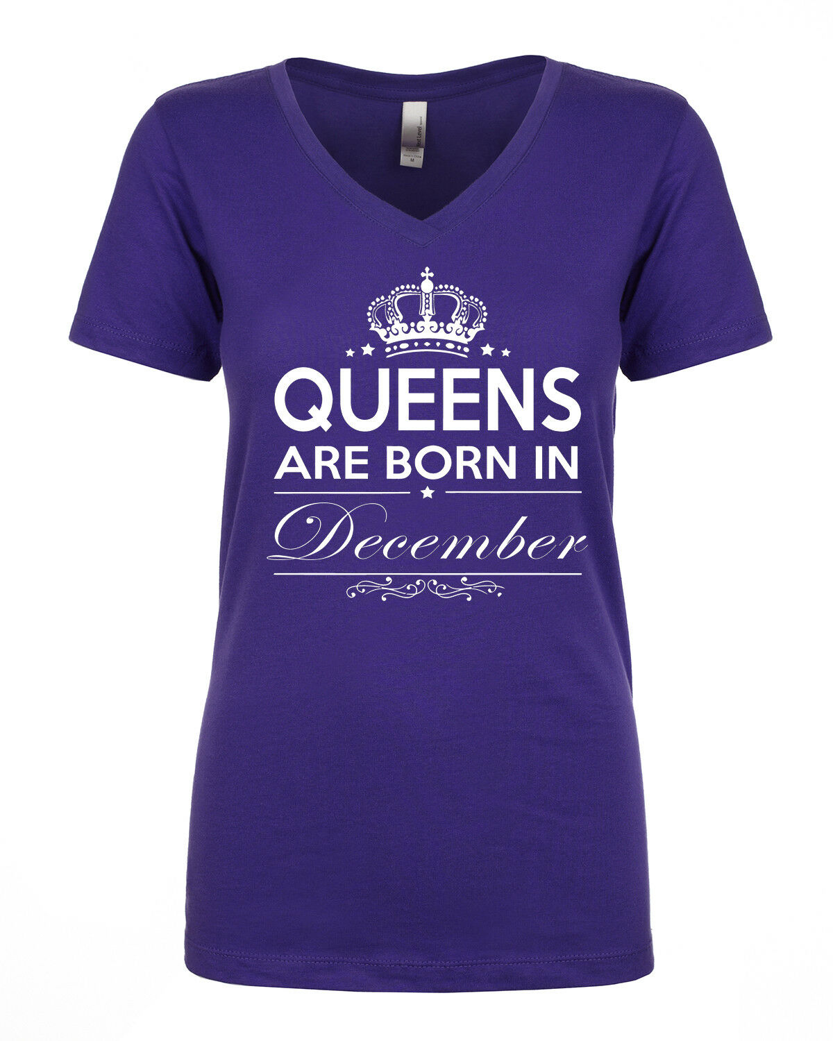 NEW!QUEENS ARE BORN in June ALL MONTHS Birthday T-shirt Women V-neck S-3XL Gray