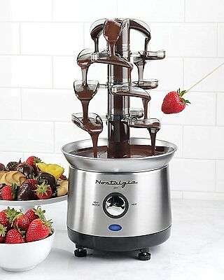 Nostalgia CFF1000 CHOCOLATE FOUNTAIN, 2 Pound Cascading CHOCOLATE FONDUE