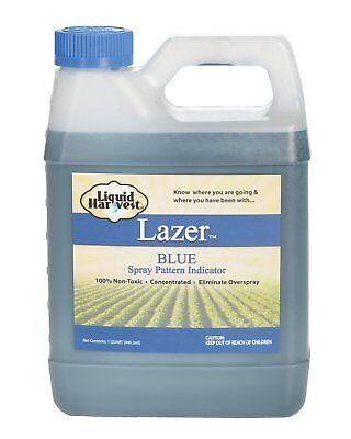 (Liquid Harvest Lazer Blue Concentrated Spray Pattern Indicator - 1 Quart (32)
