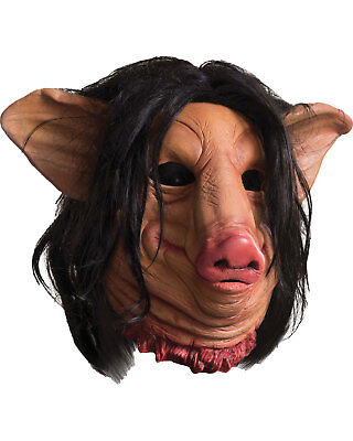 Morris Costumes Full Over Head Latex Mask Saw Pig Face Mask. One Size. RU68693](Pig Saw Mask)