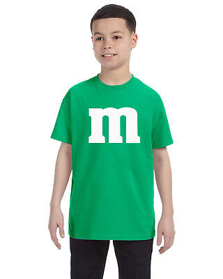 M & M Unisex Youth Tee Shirt Cheap and Easy Kids Gift! Halloween Costume! - Cheap Easy Costumes