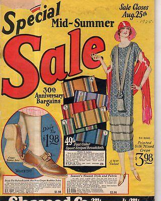 1925 Sharood Co Catalog - Minneapolis - Men's, Women's Children's fashions,shoes