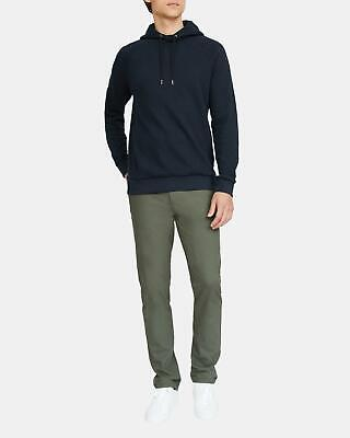 Theory Otto Thermal Pullover Hoodie Eclipse Navy Men's L Organic Cotton $225