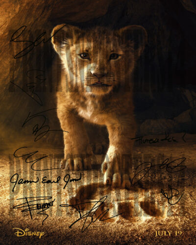 Lion King 2019 11x14 CAST SIGNED REPRINT Poster Disney Simba Mufasa #1