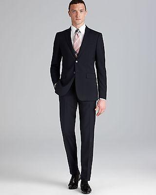 Burberry London Mens Milbury Black Wool Suit 42R SLIM FIT Pants 36X32 $1376 NWD