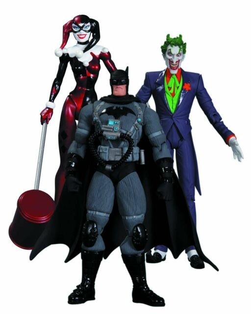 "DC Comics BATMAN HUSH THE JOKER, STEALTH BAT & HARLEY QUINN 6"" figures box set"