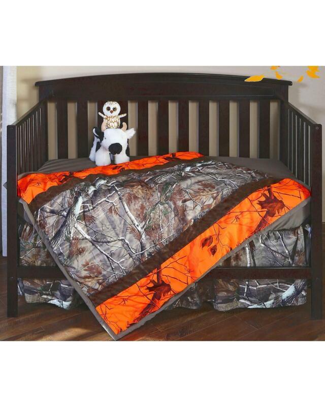 Carstens Realtree AP and AP Blaze Camo Crib Set - 3 Piece  Orange
