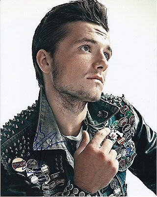 Josh Hutcherson Signed Autographed 8X10 Norton Leather Jacket Photograph