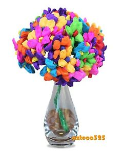 Mexican paper flowers folk art ebay mexican paper flowers teresita bouquet bunch 60 flowers mightylinksfo