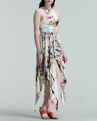 TALULAH Journey Stone Asymmetric Hem Floral Dress Size M