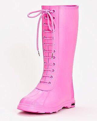 NIB WOMENS NATIVE PADDINGTON BOOTS $80 6 Hollywood pink Rain