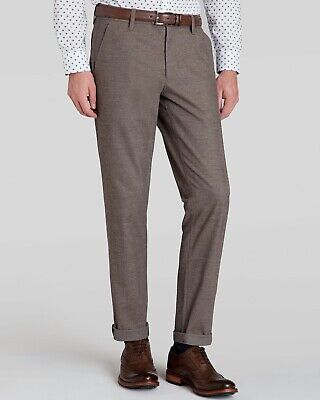 Classic Fit Black W32 L32 TED BAKER Men/'s LOMMY Brushed Cotton Trousers