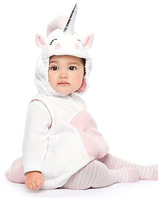 Brand New Carter's Unicorn Baby Girl's Halloween Costume 3pc set size 18m hooded - Carter's Halloween Costume