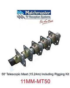 MATCHMASTER Antenna 50' Telescopic Mast (15.24m) Including Riggin Parramatta Parramatta Area Preview