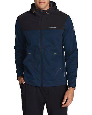 Eddie Bauer Men's Firelight Hybrid Full-Zip Hoodie Jacket 2 XL Atlantic NWT  NEW Atlantic Zip Jacket