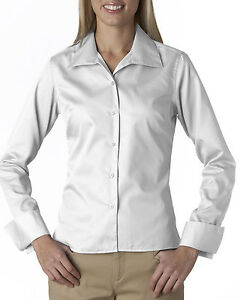 Ultraclub women 39 s convertible collar wrinkle free french French cuff shirt women