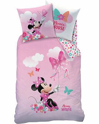 Disney Minnie Mouse / Minnie Maus Bettwäsche in rosa - 2 tlg 80x80 + 135x200