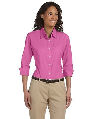Devon & Jones Women's Three-Quarter Sleeve Stretch Poplin Blouse DP625W XS-2XL