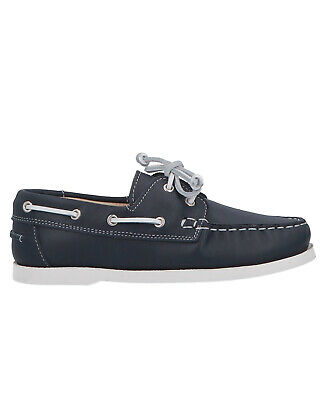 Montelpare Tradition Kids Leather Loafers Shoes US 3.5 | EU 35 Navy