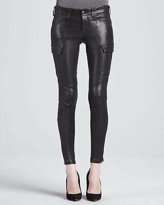 J Brand Houlihan low-rise skinny cargo leather  pants 24