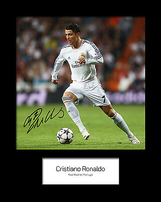 CRISTIANO RONALDO #5 Signed Photo Print 10x8 Mounted Photo Print - FREE DEL
