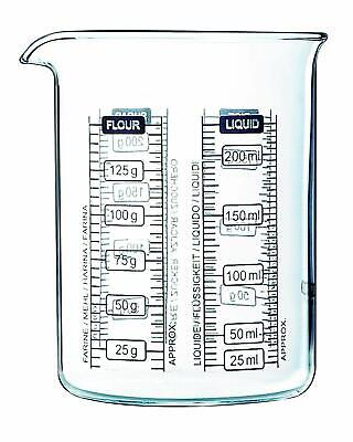 Pyrex 250 ml Kitchen Lab Measure and Mix Beaker Precision Safe FREE