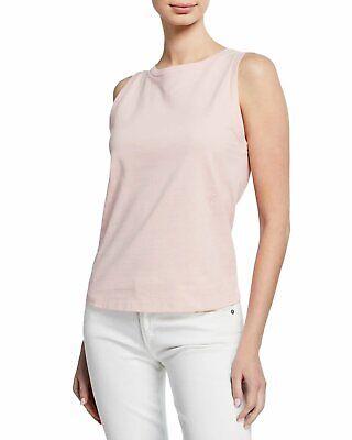 Helmut Lang Sleeveless Cotton Crewneck Muscle T-Shirt Rose Quartz L NWT $150
